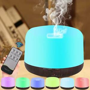 7LED Electric Air Diffuser Aroma Oil Humidifier 300ML Light Home +Remote Control