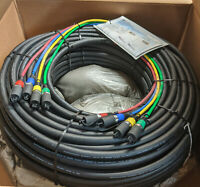 ProCo 125 ft DuraCat 4X 4 channel Ethernet Snake cat6 UTP w/ NE8MC Plugs US-Made