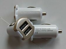 Scosche ReVolt USB242M Dual 12-Watt (2.4A) USB Rapid Car Charger (White)