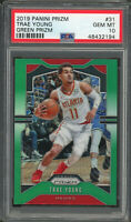 Trae Young Atlanta Hawks 2019 Panini Prizm Green Basketball Card #31 PSA 10 GEM