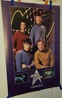 1991 Star Trek 36 by 23 3/4 inch poster: Captain Kirk/Mr Spock/Uhura/Bones McCoy