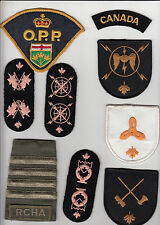 Canadian military & police patches x 16 plus a slide various types, as new