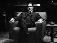 The Godfather Part Ii 24X18 B&W Poster Al Pacino Michael Corleone In Chair