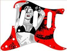 Stratocaster Pickguard Custom Fender SSS 11 Hole Guitar Pick Guard Bikini Girl