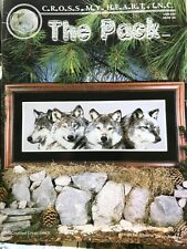 The Pack Gray Wolves Wolf Counted Cross Stitch Chart Pattern Claus Rare