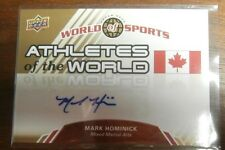 2010 Upper Deck World of Sports Athletes of the World AW-79 Mark Hominick Auto