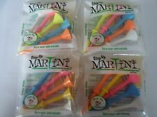 "Martini Step Up Golf Tees Mixed Colors - 6 packages of 5 -3 1/4"" Tees"
