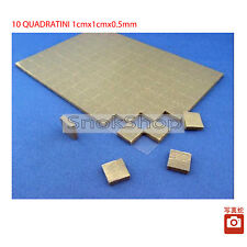 X 10 THERMAL PAD 1cmx1cm0,5mm THERMIQUE 4W/m-K CONDUCTRICE