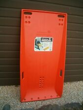 Snow Master Snow Scoop Pusher Shovel w/ Wheel Caster Snow Removal Tool