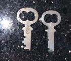 2 Old Vintage National Cash Register Keys Number  H2 And K2