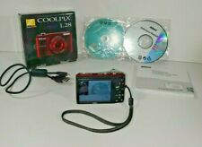 Nikon Coolpix L28 Dig.Camera RED 20.1 MP, 5x Zoom Manual, USB Cable 8m PARTSONLY