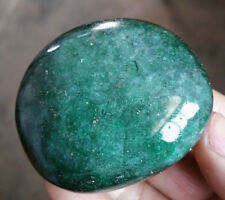 Natural Green Ficite Crystal Polished Stone With Glittering 181g LJW6001