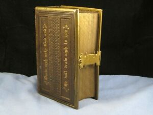 VICTORIAN ANTIQUE COMMON PRAYER BIBLE LEATHER GILT CHURCH SERVICES BOOK LIBRARY