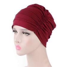 Women India Hat Muslim Ruffle Cancer Chemo Hat Beanie Scarf Turban Head Wrap+h