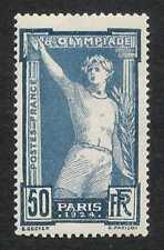 France 1924 50c Olympic Games #201 F-VF Mint LH