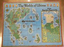 Ultima Online UO Worlds of Ultima brand new Cloth map from Origin