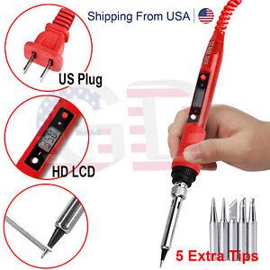 80W Soldering Iron Digital LCD Electric Welding Tools Adjustable Temperature