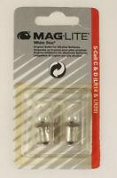 (PRL) MAGLITE BULBS LAMPS 5 CELL C&D LAMPADINA KRYPTON LR14 LR20 WHITE STAR