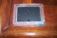 """K Mart Glass Picture Frame 6.5"""" by 5"""" Black Wood Back Excellent Condition!!!"""