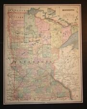 Antique 1893 Map of Minnesota