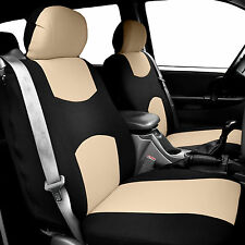 Car Seat Covers for integrated seat belts / built-in seat belt Beige Black
