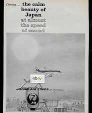 JAPAN AIR LINES 1960 THE CALM BEAUTY OF JAPAN AT ALMOST THE SPEED OF SOUND DC-8