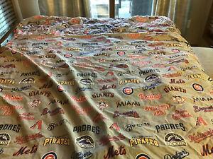 Pottery Barn Teen Major League Baseball MLB Full Sheet Set With Two Pillowcases