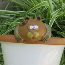 Vintage Ceramic Crazy Cat Watering Spike Garden Art Indoor Outdoor Plant Flowers