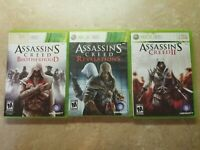 Xbox 360 Assassin's Creed Game Lot 2, Brotherhood, Revaltions