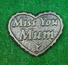 Mum  large GRAVE SIDE TRIBUTE GARDEN MEMORIAL HANDMADE NATURAL STONE HEART