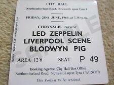 Led Zeppelin/Blodwyn Pig Concert Coasters Ticket June 1969 High quality mdf