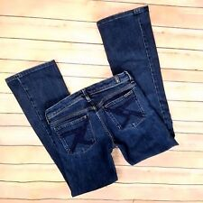 7 For All Mankind Jeans Flynt Sz 27 x 29 Seven Slim Boot Cut Dark Wash Low Rise
