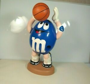 Genuine Retro Sweet Candy Dispenser M&Ms Vintage Blue And White Basketball