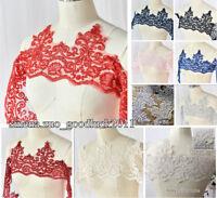 1 yard Lace Edge Trim Wedding Bridal Ribbon dress Veil Applique Sewing DIY FL23