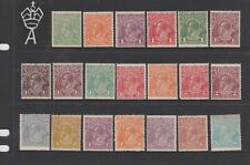 Australian SET KGV Mint 1st WM (GG26)