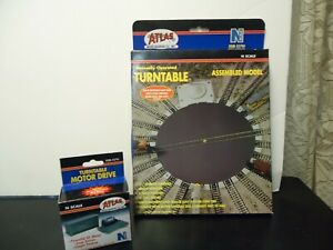 N Scale Atlas Turntable & Motor Drive complete new in boxes