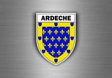 Sticker decal car bike motorcycle souvenir france flag  ardeche shield