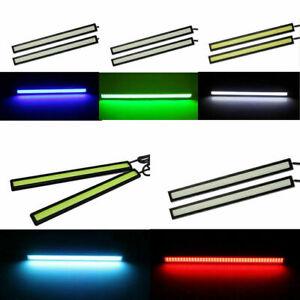 Waterproof 12V Day Time LED Car Running Side Light DRL COB Strip Light Lamps