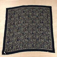 Vintage Nordstrom Wool Scarf Paisley Made In Italy Fringe