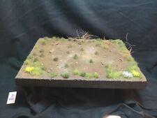 1/35 Diorama Base. Pro Construido y pintado. rasguño construido. tamaño A5