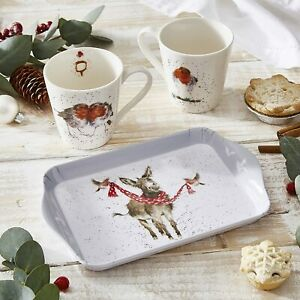 Wrendale Designs Christmas Wildlife Bone China Mug & Tray Set by Royal Worcester