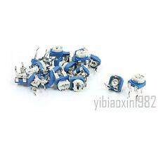 50Pcs Pot Variable Resistor Horizontal Trimmer Potentiometers 1K Ohm