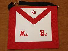 Franc-maçonnerie tablier de Maître REAA - Masonic apron