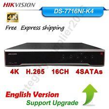 Hikvision DS-7716NI-K4 En Version NVR 4K H.265 4SATA 16CH For IP Camera (NO POE)