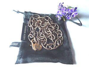 Dyrberg/Kern Antique Finish Copper Base Metal Chain-length 90 cm