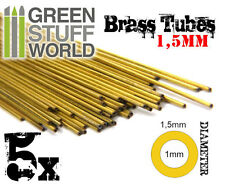5x Tubos de Laton 1.5mm Pinear - Pinning - Modelismo Miniaturas Warhammer Bases