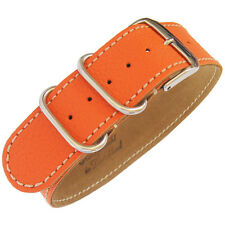 24mm Fluco Germany 1-Piece Mens Orange Leather UTC Military G10 Watch Band Strap