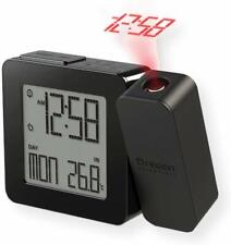 Projection Atomic Alarm Clock, Indoor Temperature Snooze Functions - Black