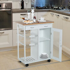 Küchenwagen Beistellwagen Küchentrolley Küchenrollwagen Servierwagen Holz