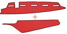 VOLVO FH 4 ab 2013 Passform Armaturenbrett und Ablage Abdeckung Kunstleder Rot